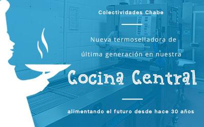 Nueva termoselladora de última generación en nuestra Cocina Central