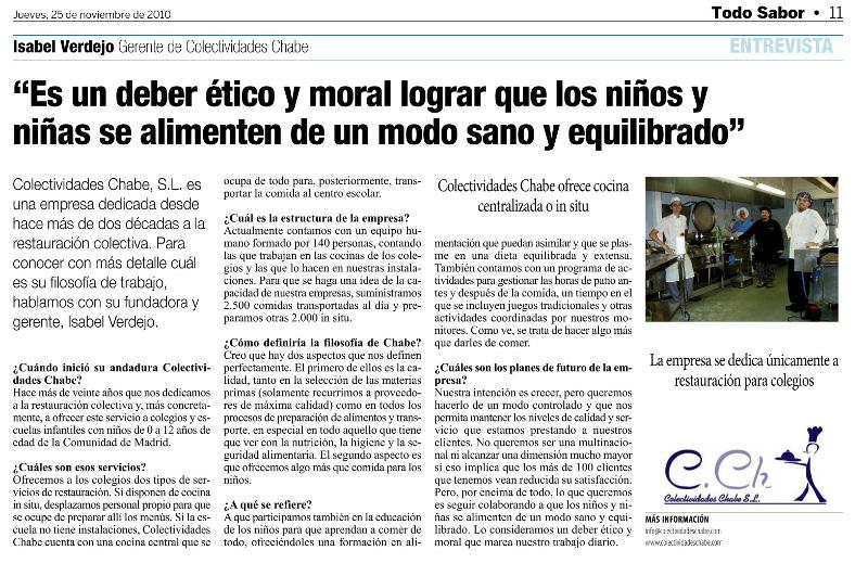 Articulo de Colectividades Chabe en La Razón
